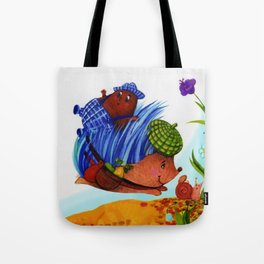Prickly the Hedgehog with Digby Deep Tote Bag