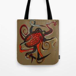 octopus ink umber Tote Bag