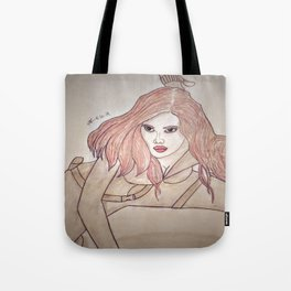 Scarlett Johansson by Double R Tote Bag