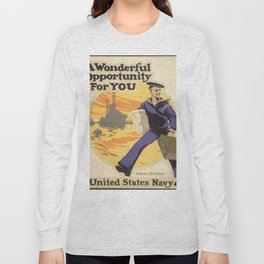 Vintage poster - A Wonderful Opportunity For You Long Sleeve T-shirt