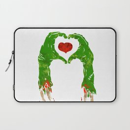 zombie hand making heart Laptop Sleeve