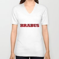 mercedes V-neck T-shirts featuring BRABUS by Pisthead