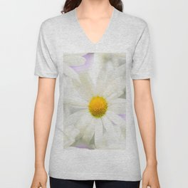 Daisy Flower Bouquet Pastel Color Background #decor #society6 #buyart Unisex V-Neck