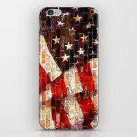 flag iPhone & iPod Skins featuring Flag by Urlaub Photography