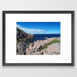 Pink Granite Framed Art Print