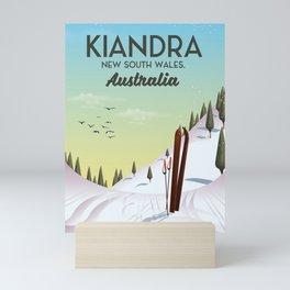 Kiandra, New South Wales, Australia Ski poster Mini Art Print