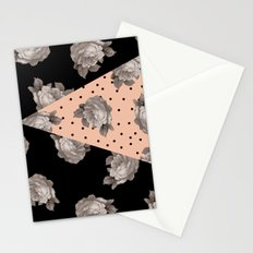 Roses and Peach Stationery Cards