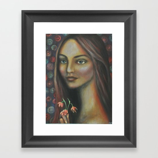 Eleanor Bronze Framed Art Print