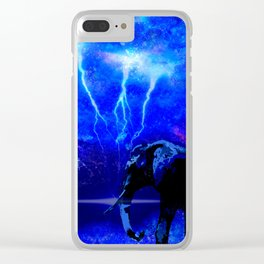 ELEPHANT LIGHTNING AND AFRICAN NIGHTS Clear iPhone Case