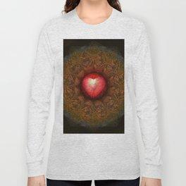 Valentine Heart Mandala Abstract (Love Overcomes the Darkness) Long Sleeve T-shirt