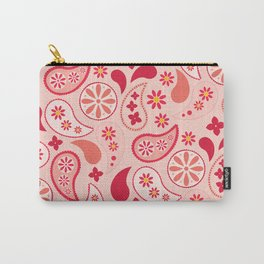 Pretty Paisley Pink  Carry-All Pouch