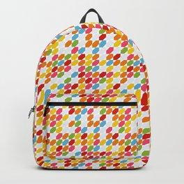 Rainbow gems geometric pattern, hexagon abstract colorful diamonds Backpack