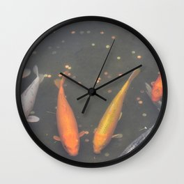 Be Koi With Me Wall Clock