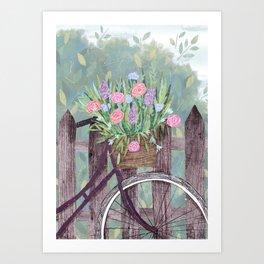 Flowerbike. Art Print