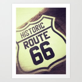 Route 66 sign. Art Print