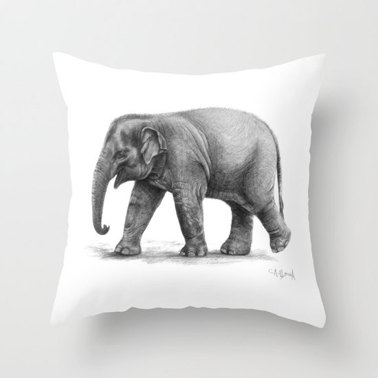 Elephant Baby G092 Throw Pillow