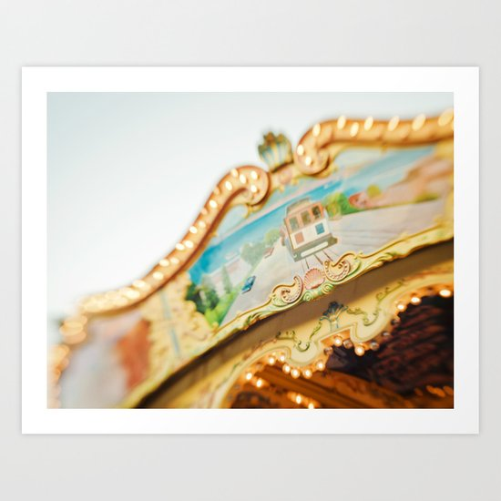 San Francisco Carousel Art Print