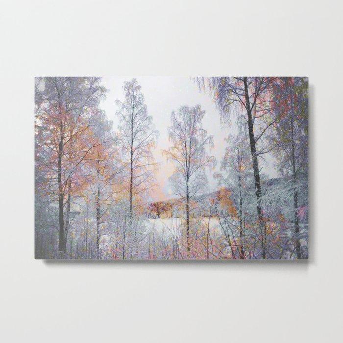 Winter in Norwegian Woods Metal Print