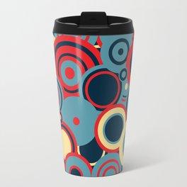 circles-red-blue-cream Travel Mug