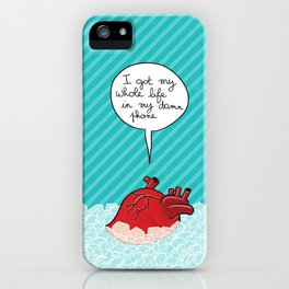 Don't listen to your heart iPhone Case