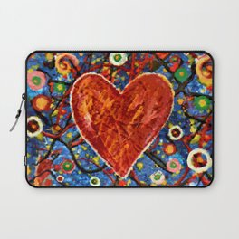 Abstract Painted Heart Laptop Sleeve