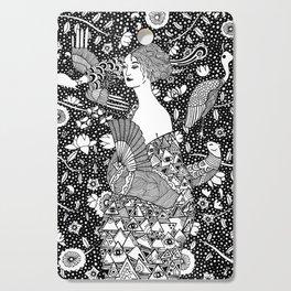 Gustav Klimt - Lady with fan Cutting Board
