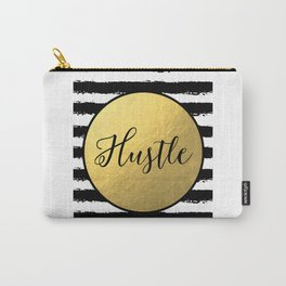 "Fashion Quote ""Hustle"" Fashion Print Fashionista Girl Bathroom Decor Girl Room Decor Printable Wall Carry-All Pouch"