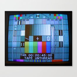 Tape Unthread Canvas Print