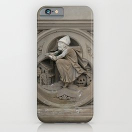 Halloween Witch on Broom 3d Stone Carving Photo iPhone Case