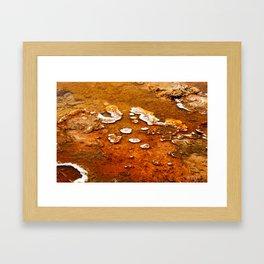 Orange Texture Framed Art Print