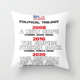 USA Presidential trilogy Throw Pillow
