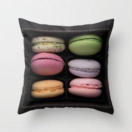 French Macaron Cookies Throw Pillow