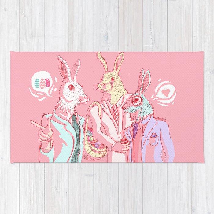 Easter Bunnies Agents Rug