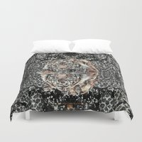 leopard Duvet Covers featuring Leopard by MMKDESIGN