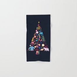 Magic of a christmas tree Hand & Bath Towel