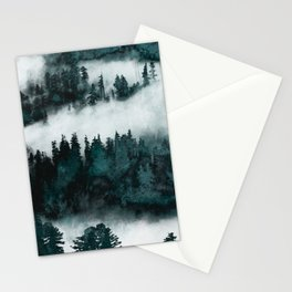 Foggy Forest Fun - Turquoise Mountains Stationery Cards