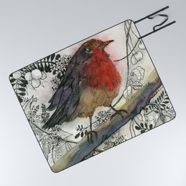 Just Be: Robin Red-Breast Picnic Blanket