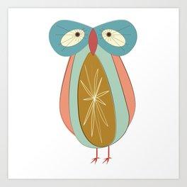 Day 171: Sad Atomic Owl Art Print