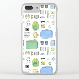 Happy Travels Clear iPhone Case