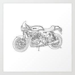 NORTON COMMANDO 961 CAFE RACER 2011, original artwork Art Print