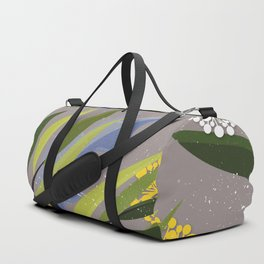 Romantic Floral Branches with leaves Pattern Duffle Bag