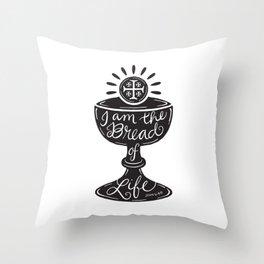 Catholic Communion Bread of Life Throw Pillow