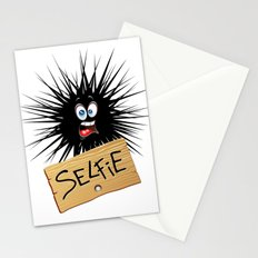 Selfie Fun Cartoon Face Stationery Cards
