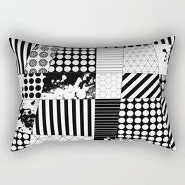 Mosaic Contrast - Black and white, geometric design Rectangular Pillow