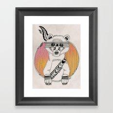 Indian Summer Bear Framed Art Print