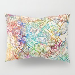 Rome Italy Street Map Pillow Sham