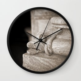 Etched in stone Wall Clock