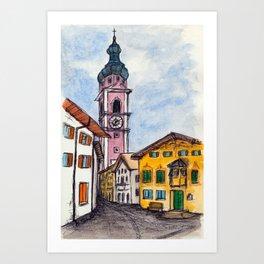 Kastelruth Castelrotto, Italy Art Print