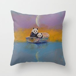 Panda Lake Throw Pillow