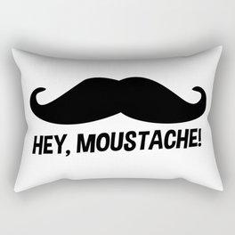 hey moustache Rectangular Pillow